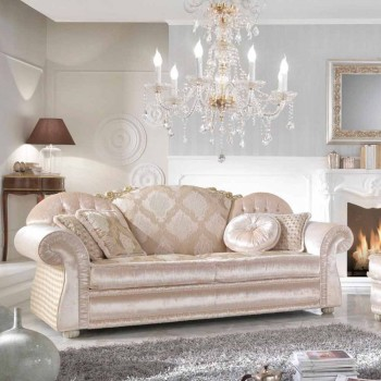 3 seater sofa in fabric partially removable Romantic