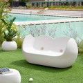 Modern design outdoor rocking sofa Slide Blossy, made in Italy