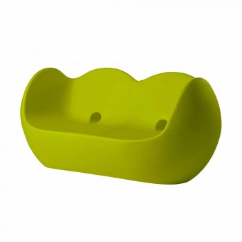 Colorful rocking sofa Slide Blossy modern design made in Italy