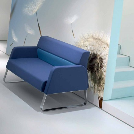 Faux leather waiting sofa of modern design made in Italy Ennio