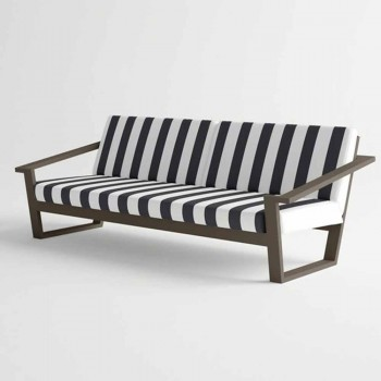 2 or 3 Seater Outdoor Sofa in Aluminum and Fabric Modern Design - Louisiana