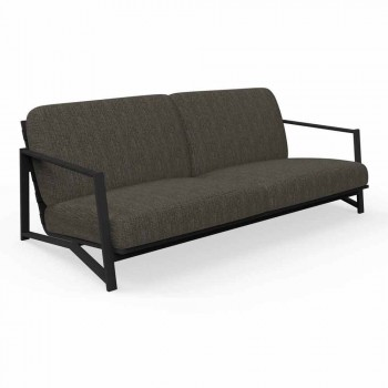 2 Seater Outdoor Sofa in Aluminum and Fabric - Cottage Luxury by Talenti