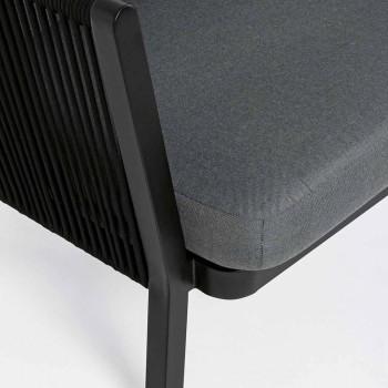 Outdoor 3 Seater Design Sofa in Aluminum and Homemotion Fabric - Morena