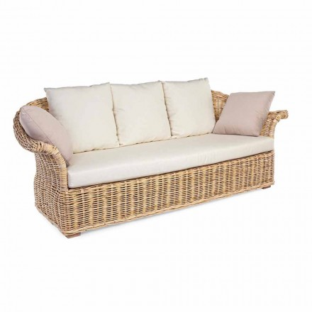 Indoor or Outdoor Ethnic Style Sofa 2 or 3 Seats Homemotion - Fermin