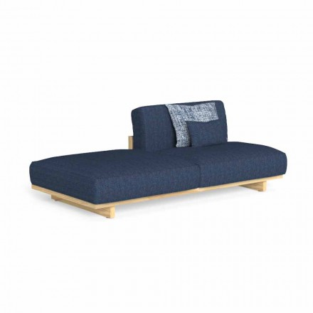 Modular Design Outdoor Sofa with Left or Right Pouf - Argo by Talenti