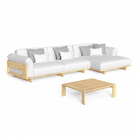 Outdoor Lounge with Luxury Wooden Sofa and Coffee Table - Argo by Talenti