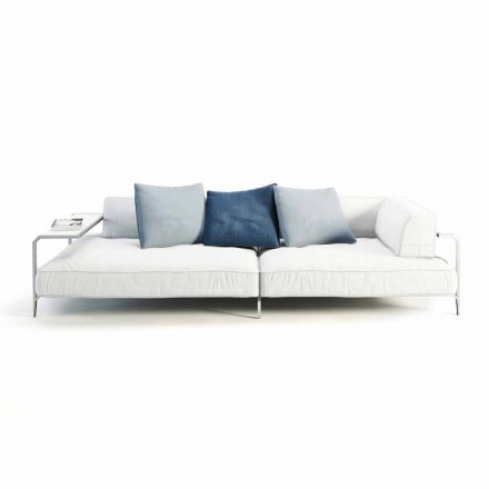 Outdoor Sofa Upholstered in Modern Design Fabric Made in Italy - Arkansas