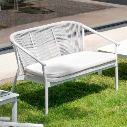 Outdoor Stackable Two Seater Sofa Upholstered Fabric - Smart by Varaschin