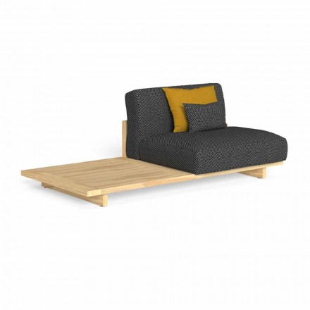 Modular Outdoor Sofa with Right or Left Table - Argo by Talenti
