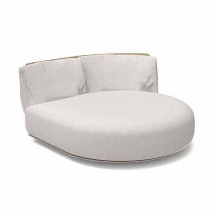 Modular Outdoor Round Left Sofa in Aluminum and Fabric - Scacco Talenti
