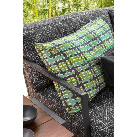 3 Seater Garden Sofa in Aluminum and Fabric - Cottage Luxury by Talenti