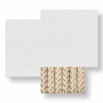 3 Seater Garden Sofa in White, Beige or Gray Fabric - Cliff Decò Talenti