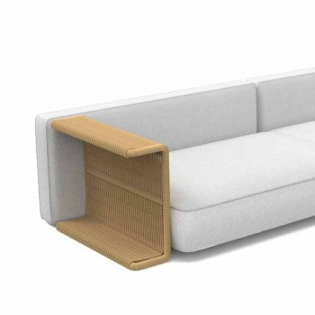 3 Seater Garden Sofa in White, Beige or Gray Fabric - Cliff Decò Talenti