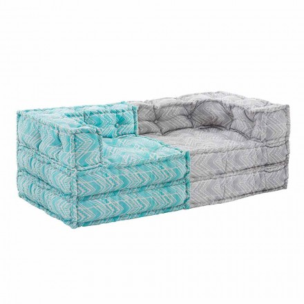 Two Seater Ethnic Garden Sofa in Water Repellent Fabric - Shamo