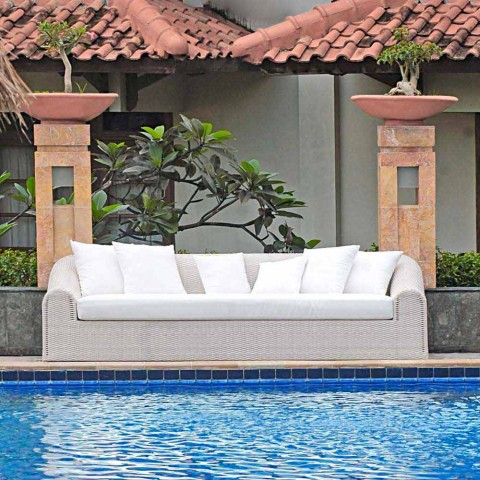 Large outdoor sofa Cooper, handmade modern design