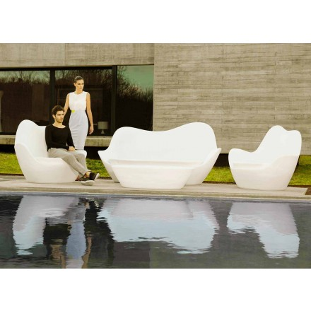 Modern outdoor sofa Sabinas by Vondom, made with polyethylene
