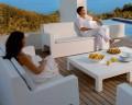 Garden sofa Jut by Vondom, in polyethylene resin, modern design