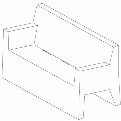 Jut by Vondom garden sofa, in polyethylene resin, design