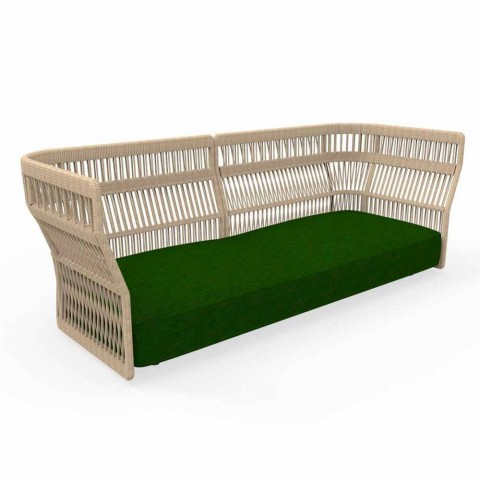Cliff Talenti modern garden sofa, by Ludovica & Roberto Palomba