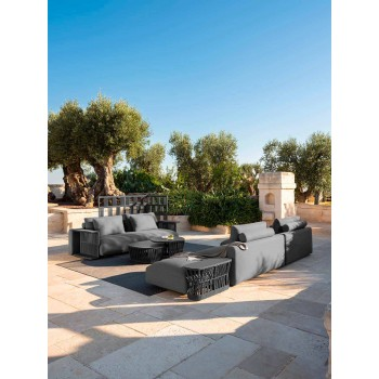 Central Modular Fabric Garden Sofa - Cliff Decò by Talenti