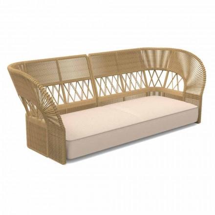 Modern Design Three Seater Garden Sofa - Cliff Decò by Talenti
