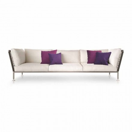 Modern Design Outdoor Sofa in Fabric Made in Italy - Ontario