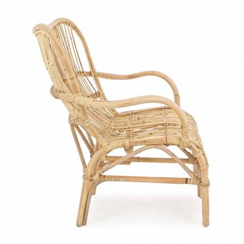2 Seater Luxury Outdoor Sofa in Synthetic Fiber for Garden - Melizia