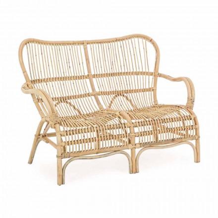 2 Seater Outdoor Design Sofa in Garden Rattan - Melizia