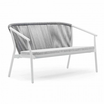 Two Seater Garden Stacking Sofa Aluminum and Fabric - Smart By Varaschin