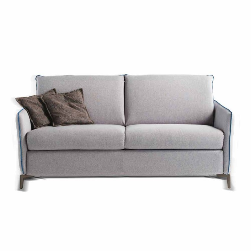 Modern design two-seater sofa L.145 cm eco-leather / Erica fabric