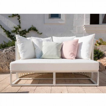 2 Seater Outdoor Sofa in Aluminum with Luxury Design Ropes 3 Finishes - Julie