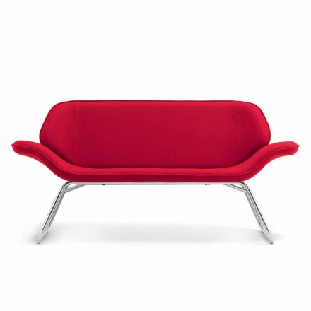 Moden design waiting sofa in faux leather made in Italy Cesare