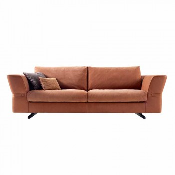 3 seater upholstered fabric sofa Grilli Joe made in Italy