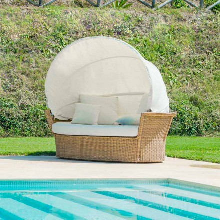 Sofa with canopy Hector, handmade weaving, modern design