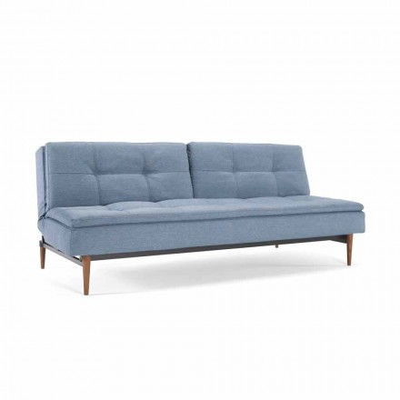 Blue sofa bed adjustable in 3 positions Dublexo Innovation