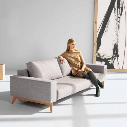 Modern Scandinavian design gray sofa bed Idun by Innovation