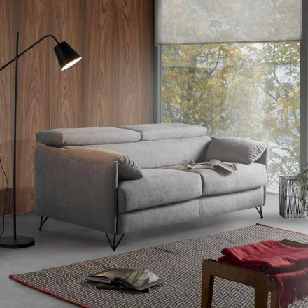 Design sofa bed in removable fabric produced in Italy Vittorio