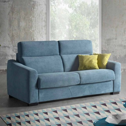 Modern upholstered with colored fabric sofa bed Ginger made in Italy