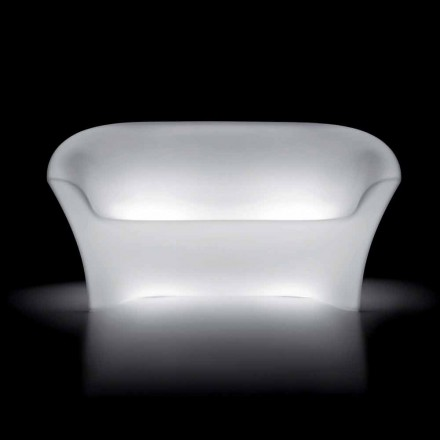 Outdoor Bright Sofa in Polyethylene with LED Light Made in Italy - Conda