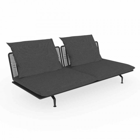 Central Modular Two-Seater Outdoor Sofa - Cruise Alu by Talenti