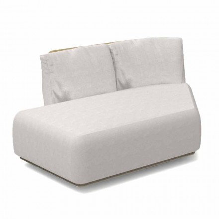 Right Oblique Modular Sofa for Outdoor Aluminum and Fabric - Scacco Talenti