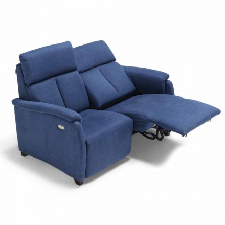 2 seater sofa Gelso, with one recliner seat, modern design
