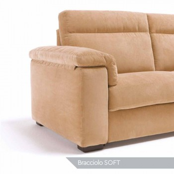 2-seater motorized sofa with 1 Lilia electric seat, made in Italy