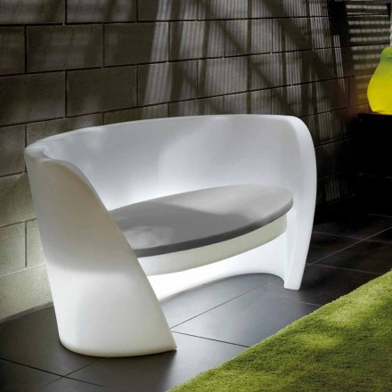 Design indoor sofa in polyethylene Slide Rap, produced in Italy