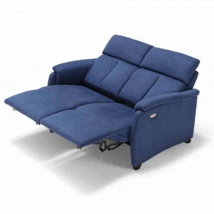 2 seater sofa Gelso, with two recliner seats, modern design