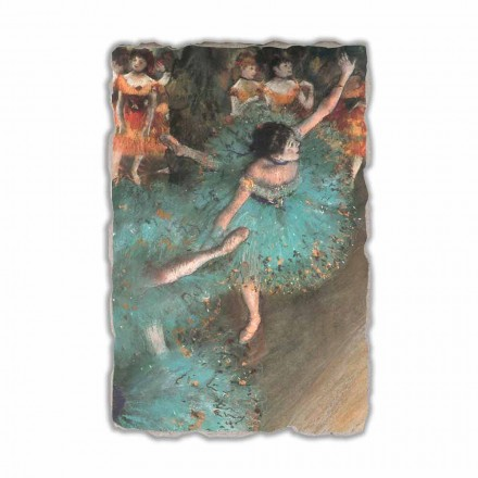 The Green Dancer by Edgar Degas, hand-painted fresco