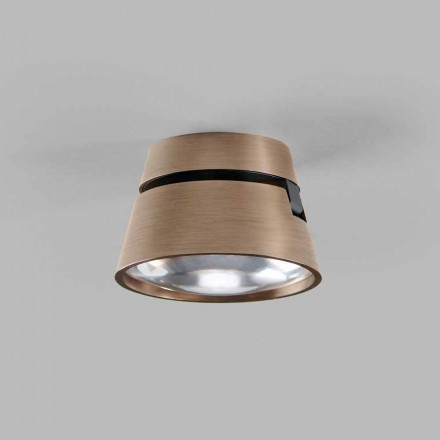 Ceiling or Wall Led Spotlight in White, Black, Rose Gold Aluminum - Appearance