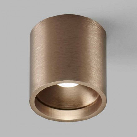 Ceiling Spotlight in Aluminum Cylindrical Modern Colored Design - Mancio