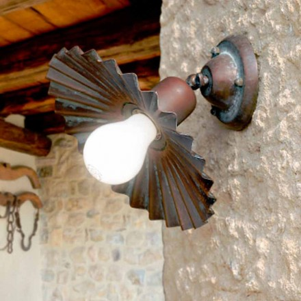 Modern ceiling spotlight made of antiqued copper Civetta