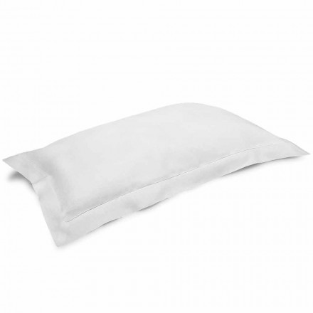 Pillowcase in Cream White Pure Linen Made in Italy - Poppy